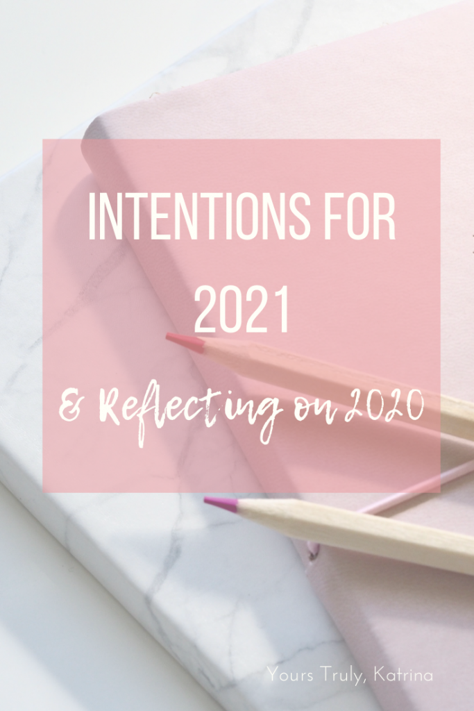 Pinterest image - intentions for 2021